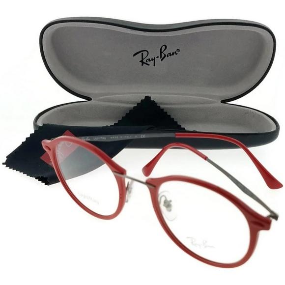 65d57823cc7 RX7073-5619-47 Unisex Red Frame Eyeglasses